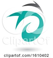 Clipart Of A Turquoise And Gray Twister Royalty Free Vector Illustration
