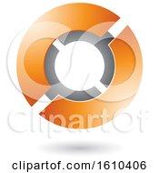 Poster, Art Print Of Orange And Gray Futuristic Sphere