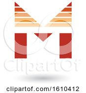 Striped Orange Letter M