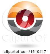 Poster, Art Print Of Orange Red And Gray Futuristic Sphere