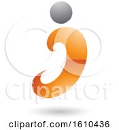 Orange And Gray Letter I