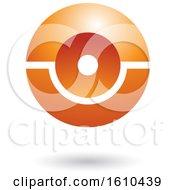 Poster, Art Print Of Orange Futuristic Sphere