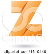 Orange Folded Paper Styled Letter Z