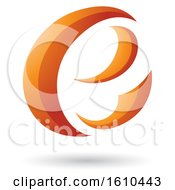 Clipart Of An Orange Letter E Royalty Free Vector Illustration