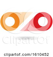 Red And Orange Abstract Double Letter O Or Binoculars Design
