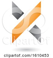Orange And Gray Letter X