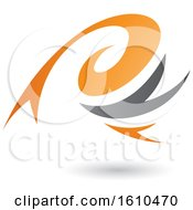 Clipart Of An Orange And Gray Twister Royalty Free Vector Illustration