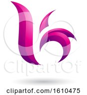 Clipart Of A Magenta Letter B Or K Royalty Free Vector Illustration