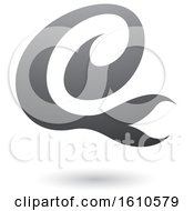 Clipart Of A Gray Letter E Royalty Free Vector Illustration