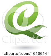 Clipart Of A Green Letter E Royalty Free Vector Illustration