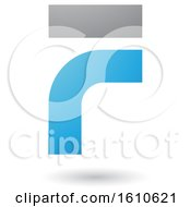Clipart Of A Blue And Gray Letter F Royalty Free Vector Illustration