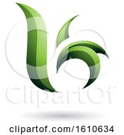 Clipart Of A Green Letter B Or K Royalty Free Vector Illustration