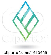 Clipart Of A Blue And Green Letter E Royalty Free Vector Illustration