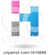 Clipart Of A Letter H Royalty Free Vector Illustration