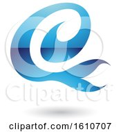 Clipart Of A Blue Letter E Royalty Free Vector Illustration