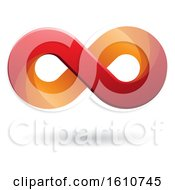 Clipart Of A Red And Orange Infinity Symbol Royalty Free Vector Illustration