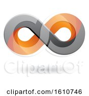 Clipart Of A Gray And Orange Infinity Symbol Royalty Free Vector Illustration