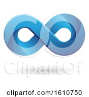 Clipart Of A Blue Infinity Symbol Royalty Free Vector Illustration
