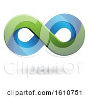 Clipart Of A Blue And Green Infinity Symbol Royalty Free Vector Illustration