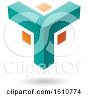 Turquoise And Orange Corner Design