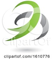 Poster, Art Print Of Green And Gray Twister