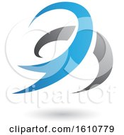 Clipart Of A Blue And Gray Twister Royalty Free Vector Illustration
