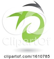 Clipart Of A Green And Gray Twister Royalty Free Vector Illustration