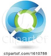 Clipart Of A Blue And Green Futuristic Sphere Royalty Free Vector Illustration