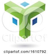 Green And Blue Corner Design