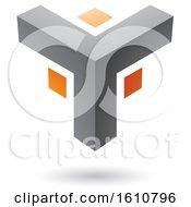 Gray And Orange Corner Design