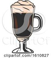 Poster, Art Print Of Tall Coffee Glass