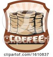 Shield With Sacks Of Coffee