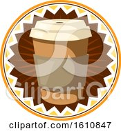 Clipart Of A Take Out Coffee Cup Design Royalty Free Vector Illustration