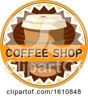 Clipart Of A Take Out Coffee Cup Design With Text Royalty Free Vector Illustration