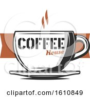 Hot Coffee Cup With Text
