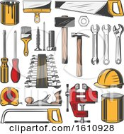 Clipart Of Tools Royalty Free Vector Illustration