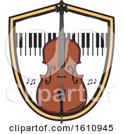 Bass Or Cello And Keyboard In A Shield