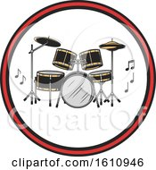 Drum Set In A Circle