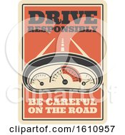 Clipart Of A Vintage Style Automotive Sign Royalty Free Vector Illustration