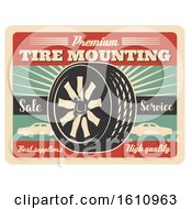 Clipart Of A Vintage Style Automotive Sign Royalty Free Vector Illustration by Vector Tradition SM