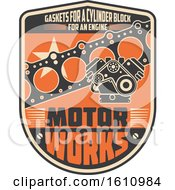 Clipart Of A Car Automotive Design In Retro Style Royalty Free Vector Illustration