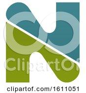 Clipart Of A Letter N Logo Design Royalty Free Vector Illustration