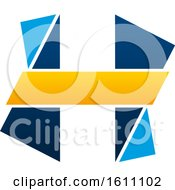 Clipart Of A Letter H Logo Design Royalty Free Vector Illustration