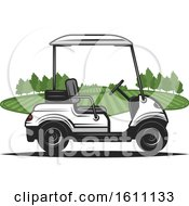 Clipart Of A Golf Cart Royalty Free Vector Illustration
