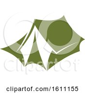 Clipart Of A Green Camping Tent Royalty Free Vector Illustration