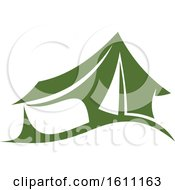 Clipart Of A Green Camping Tent Royalty Free Vector Illustration by Vector Tradition SM
