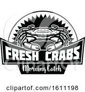 Black And White Crab Fishing Design