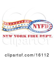Circle Of Stars And Stripes Around Nyfd With Trailing Stars