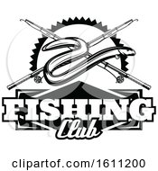 Black And White Fishing Design
