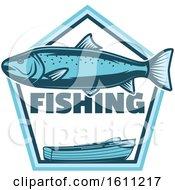Blue Fishing Design